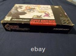 100% COMPLETE WITH REGISTRATION CARD! Chrono Trigger (SNES) Super Nintendo CIB