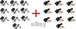 10 Lot Snes, Super Nintendo Ac Power Adapter Plus Snes Av Cable New Bulk