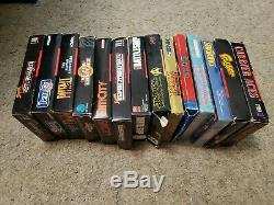 10 SNES Super Nintendo & 4 Nes Nintendo Game Box Lot
