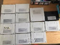 13x Super Nintendo SNES Job Lot Bundle Boxed Games