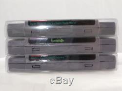 200 Custom SNES Cartridge Cart Box Protectors Sleeves Case Super Nintendo