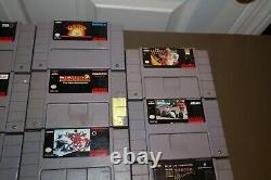23 Super Nintendo SNES Game Collection Bulk Lot With Video Games Only (NO CASE)