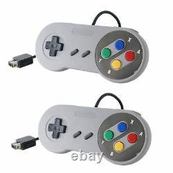 2x NEW 2017 MINI Super Nintendo SNES System Console Controller 6FT Control Pad