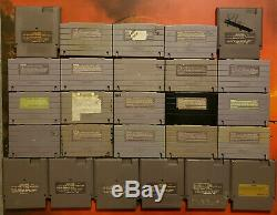 30 Snes Super Nintendo And Nes Games Lot Mortal Kombat Super Mario Bros