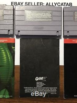 3-SNES Super Nintendo Video Games Donkey Kong Country 1,2, Family Feud WithManuals