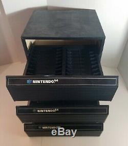 3x Nintendo 64 & SNES 24-Game Storage Case Cartridge Holder N64 Box Cabinet