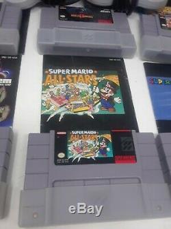 6 Super Nintendo games Lot bundle CIB controllers manuals OEM Snes game