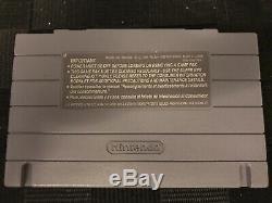 Authentic Snes Super Nintendo Game Aero Fighters