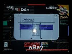 BRAND NEW Nintendo 3DS XL SNES Edition Game System with Super Mario Kart SEALED