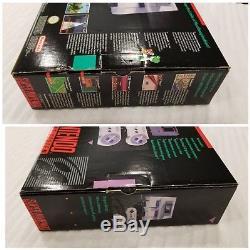 Brand New Original Super Nintendo Entertainment System SNES 1st PRINT-BLACK BOX