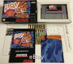 Bubsy 1 + 2 Super Nintendo SNES CIB 100% Complete Ex-Nr Mint Lot
