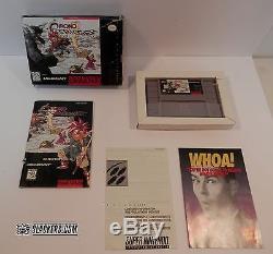 CHRONO TRIGGER (Super Nintendo Entertainment System 1995) COMPLETE! RPG SNES