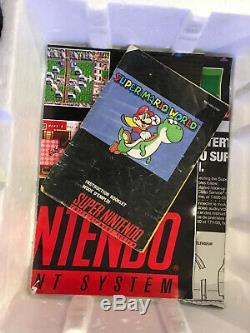 CIB Super Nintendo SNES Console Complete in Box Super Mario World 2 Controllers