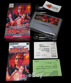 CONTRA SPIRITS Super Famicom Nintendo SNES SFC JAP Complete Konami