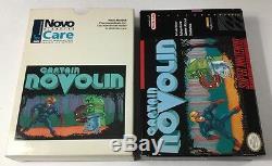 Captain Novolin Super Nintendo Snes CIB 100% Complete NM + NOVO DOCTOR SLEEVE