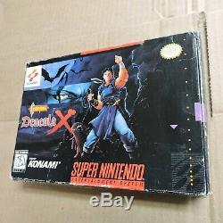 Castlevania Dracula X Super NES Super Nintendo SNES Complete w Box, Manual Drac