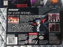 Castlevania Dracula X (Super Nintendo Entertainment System, 1995) CIB VERY NICE