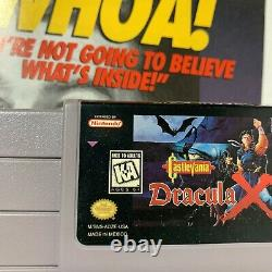 Castlevania Dracula X (Super Nintendo SNES) Box Cartridge Tray Insert No Manual