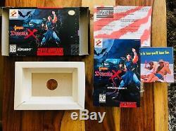 Castlevania Dracula X Super Nintendo SNES Box, Registration, Manual ONLY Konami