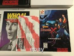 Castlevania Dracula X Super Nintendo SNES CIB Complete + Reg Card