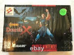 Castlevania Dracula X (Super Nintendo SNES) Complete CIB with Ads