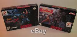 Castlevania IV & Dracula X Super Nintendo SNES Complete CIB Games Good Shape