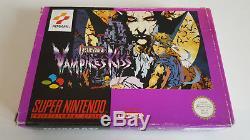 Castlevania Vampires Kiss in Acryglasbox Super Nintendo Snes 100% original