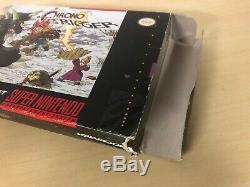 Chrono Trigger Complete CIB SNES Super Nintendo Original with Poster & Map