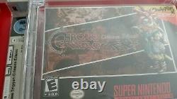 Chrono Trigger Crimson Echoes SNES Super Nintendo WATA 9.8 NEW Actual pic LOOK