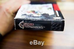 Chrono Trigger Squaresoft RPG Complete CIB box manual poster Super Nintendo SNES