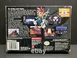 Chrono Trigger (Super Nintendo, 1995) SNES Complete Boxed with Map Poster CIB