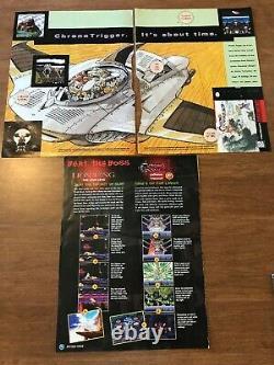 Chrono Trigger (Super Nintendo SNES) Complete CIB with Ads