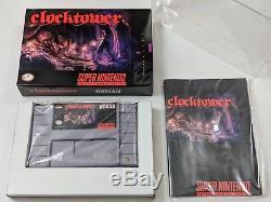 Clock Tower Complete in Box Fishyface Games for Super Nintendo SNES CIB RARE