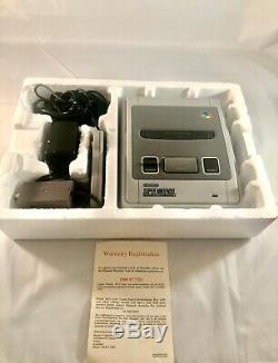 Complete Boxed Super Nintendo Nes Control Set Snes Pal Aus 1992 Excellent Cond
