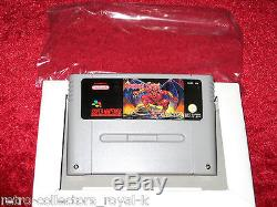 Complete & RARE PAL Version Super Nintendo SNES Game DEMON'S CREST English