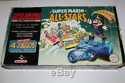 Consola Super Nintendo Snes Super Mario All Stars Pack En Caja Buen Estado