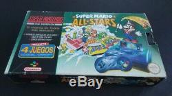 Consola Super Nintendo Snes Super Mario All Stars Pack En Caja + Juegos Extras