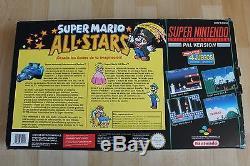 Consola Super Nintendo Snes Super Mario All Stars Pack Muy Buen Estado En Caja