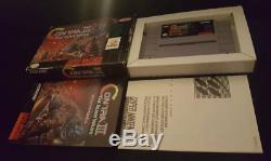 Contra III Alien Wars 3 (Super Nintendo SNES) Complete In Box CIB
