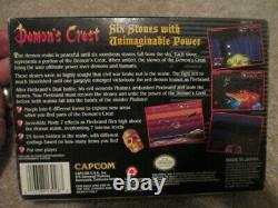 Demon's Crest (Super Nintendo SNES) Complete CIB with Poster Collector