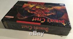 Demons Crest Super Nintendo SNES CIB 100% Complete Near Mint