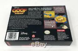 Disney's Goof Troop Super Nintendo SNES Complete CIB Goofy Game Manual & Inserts