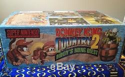 Donkey Kong Country 2 Pirate Pack Big Box PAL SNES Super Nintendo Console Games