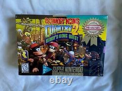Donkey Kong Country 2 Super Nintendo Snes BRAND NEW SEALED NTSC Unused