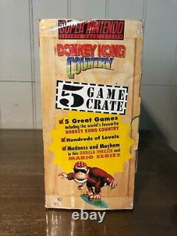 Donkey Kong Country 5 Game Crate Long Box Super Nintendo Boxed (AUS EXCL) SNES