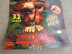 Donkey Kong Country Poster SNES Super Nintendo Video Store Game 1994 Promotional