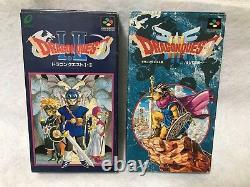 Dragon Quest 1 2&3 Nintendo Super Famicom SNES Japan Authentic Video Games