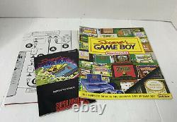 EUC RARE Super Nintendo NES Game Boy Set Beautiful Box SNES Mario All Stars Book