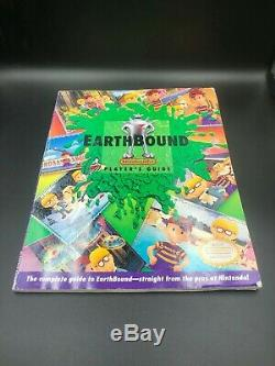 EarthBound Super Nintendo SNES CIB Complete Box Guide Scratch & Sniff Cards Mint