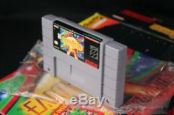 EarthBound Super Nintendo SNES CIB Complete Box withMint Cart, New Scratch & Sniff